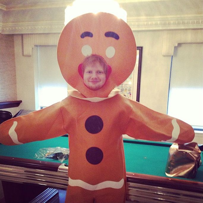 quando he dressed up in a gingerbread man costume