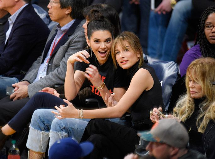 Kendall Jenner and Hailey Baldwin