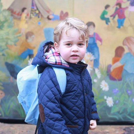 Principe George Starts His First Day of Nursery School