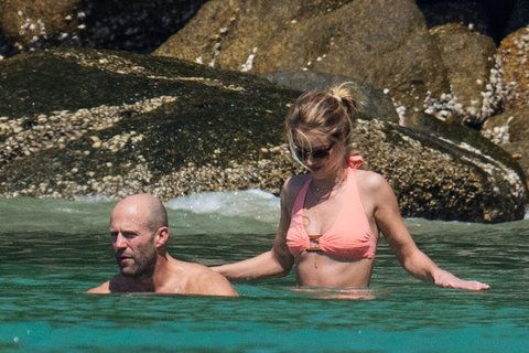 Jason Statham and Rosie Huntington-Whiteley on holidays in Thailand.