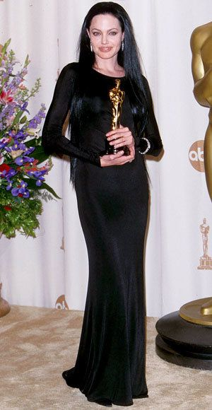 angelina Jolie - Most Outrageous Oscars Looks - Versace