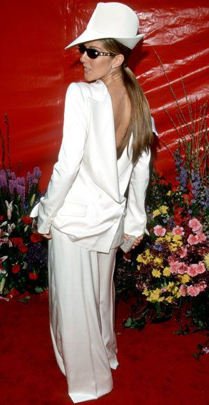 Celine Dion - Most Outrageous Oscars Looks - Christian Dior