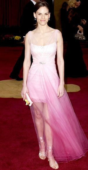 Hilary Swank - Most Outrageous Oscars Gowns - Christian Dior