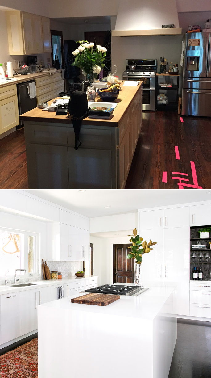 Il Kitchen: Before (Top) and After (Below)