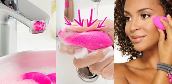 Beautyblender Squeeze While Washing