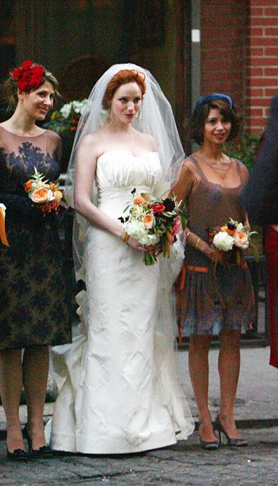 Selebriti Wedding Dresses - Christina Hendricks