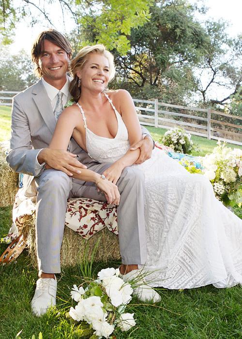 Selebriti Wedding Dresses - Rebecca Romijn