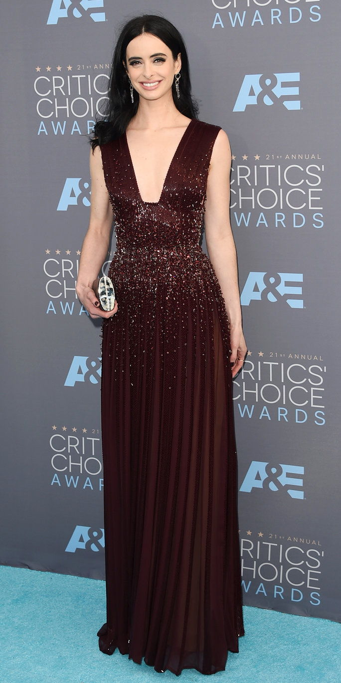 Attrice Krysten Ritter attends the 21st Annual Critics' Choice Awards at Barker Hangar on January 17, 2016 in Santa Monica, California.