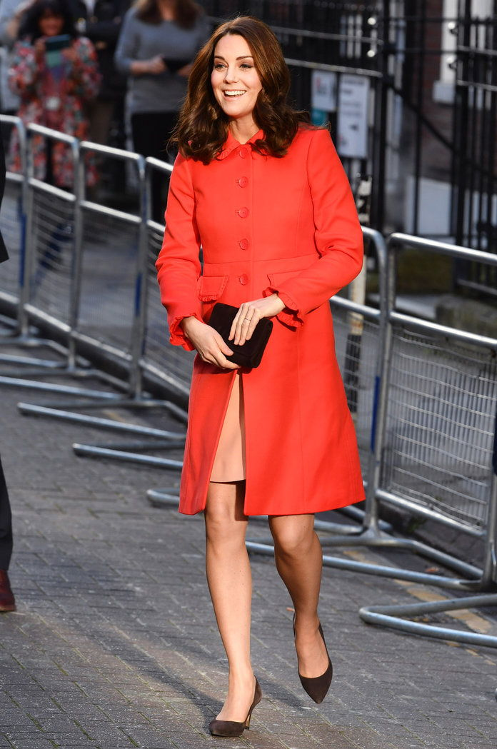 kate Middleton Red Coat LEAD
