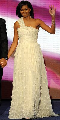 Michelle Obama, Inaugural Gown, Jason Wu, Loree Rodkin, Jimmy Choo