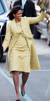 Michelle Obama, Inauguration, Isabel Toledo, J. Crew, Jimmy Choo
