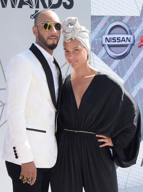 Alicia Keys and Swizz Beatz - 2016 BET Awards - EMBED