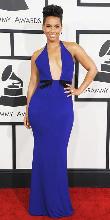 Grammy 2014 - Alicia Keys in Armani Prive