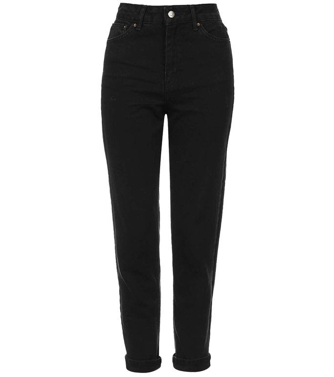 MOTO Black Mom Jeans