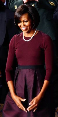 Michelle Obama in Isaac Mizrahi - Michelle Obama Style Diary