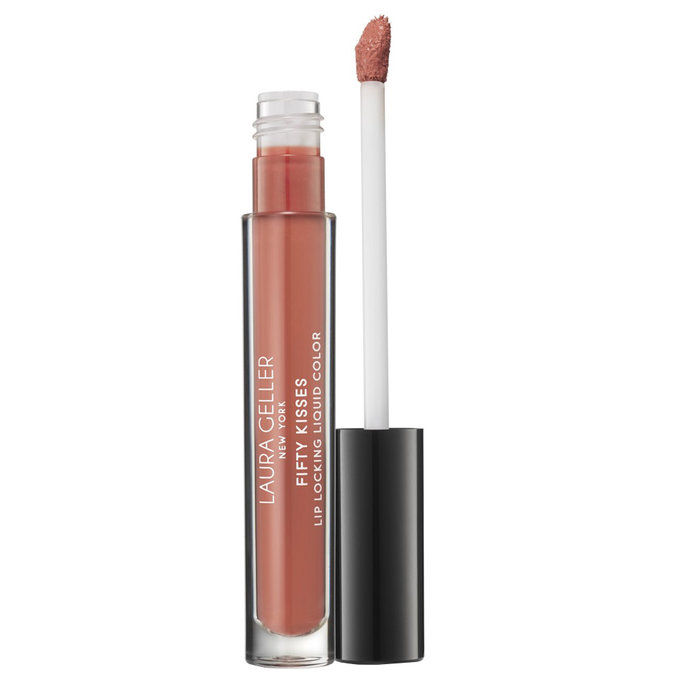 laura Geller Beauty Fifty Kisses Lip Locking Liquid Color in Beige Bite
