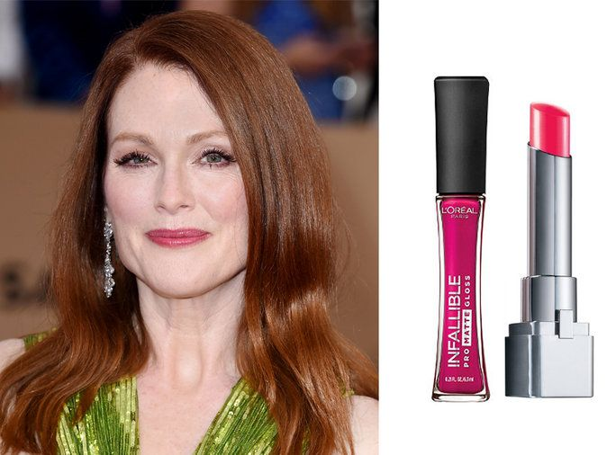 Julianne Moore Pink Lipstick at the 2016 SAG Awards