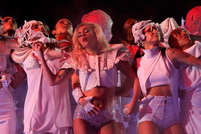 Signora Gaga performs during the Pepsi Zero Sugar Super Bowl 51 Halftime Show at NRG Stadium on February 5, 2017 in Houston, Texas.