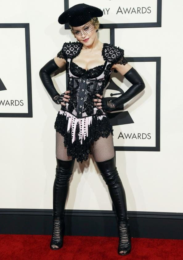 madona at 2015 Grammys