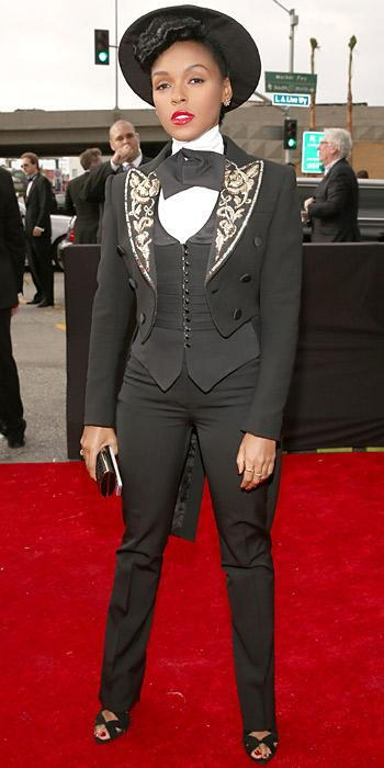 Janelle Monae at Grammys 2013