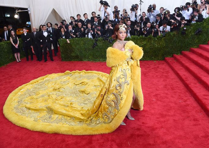 jej Met Gala gown was truly regal.