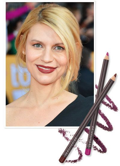 Claire Danes's rocked an oxblood lip at the SAG Awards