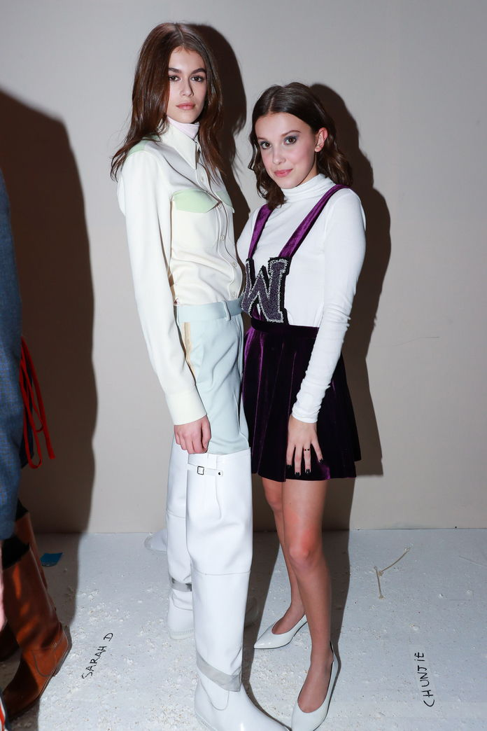 Kaia Gerber and Millie Bobby Brown