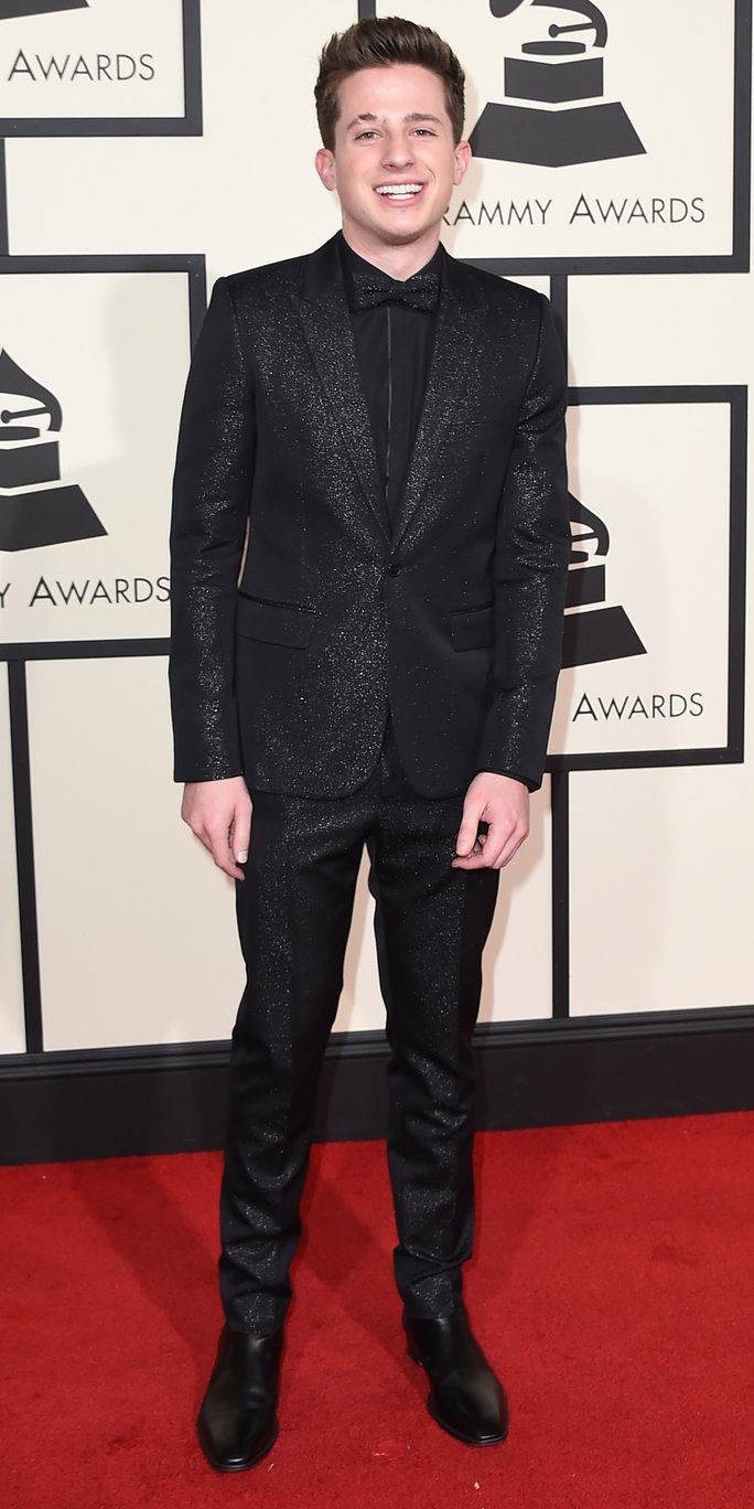Charlie Puth arrives at the 58th annual Grammy Awards at the Staples Center on Monday, Feb. 15, 2016, in Los Angeles. (Photo by Jordan Strauss/Invision/AP)