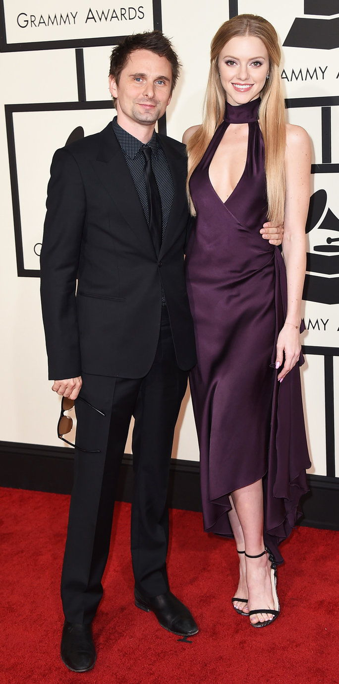 Matt Bellamy and Elle Evans - Grammys 2016