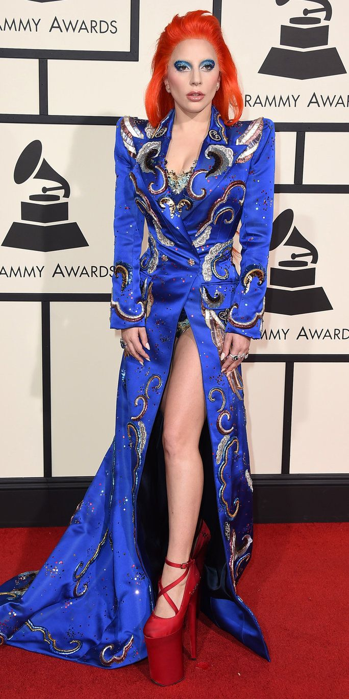 wanita Gaga arrives at the 58th annual Grammy Awards at the Staples Center on Monday, Feb. 15, 2016, in Los Angeles. (Photo by Jordan Strauss/Invision/AP)