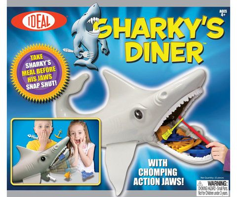 Ideale Sharky's Diner Board Game and Slinky