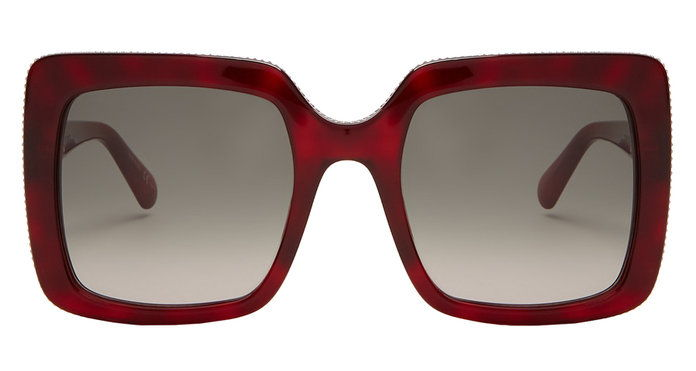 CHAIN SQUARE-FRAME SUNGLASSES