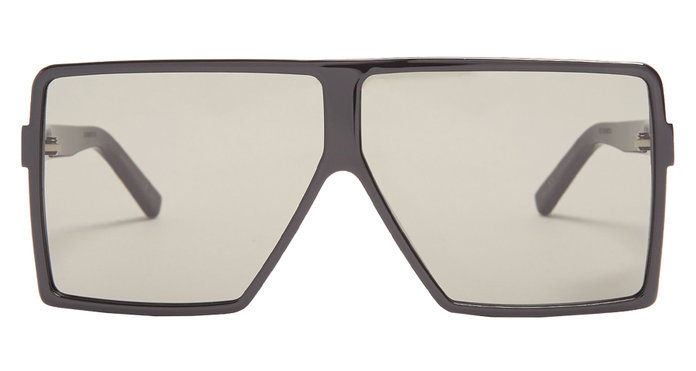 SQUARED-AVIATOR ACETATE SUNGLASSES