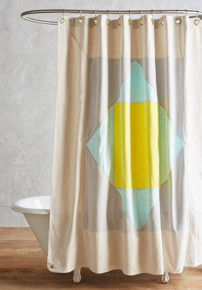 Senyap Town Narlai Shower Curtain