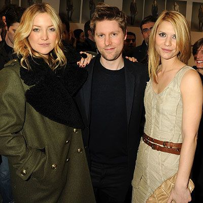 Kate Hudson, Christopher Bailey and Claire Danes