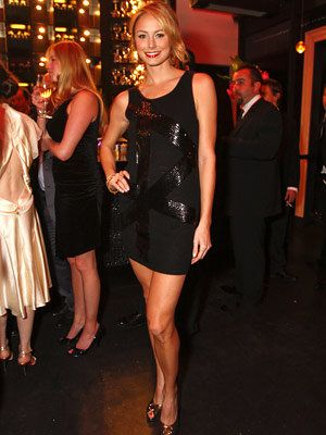 Stacey Keibler in Bebe, InStyle Oscar Viewing Party, 2008 Academy Awards