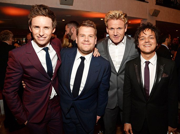 Eddie Redmayne, James Corden, Gordon Ramsay, and Jamie Cullum