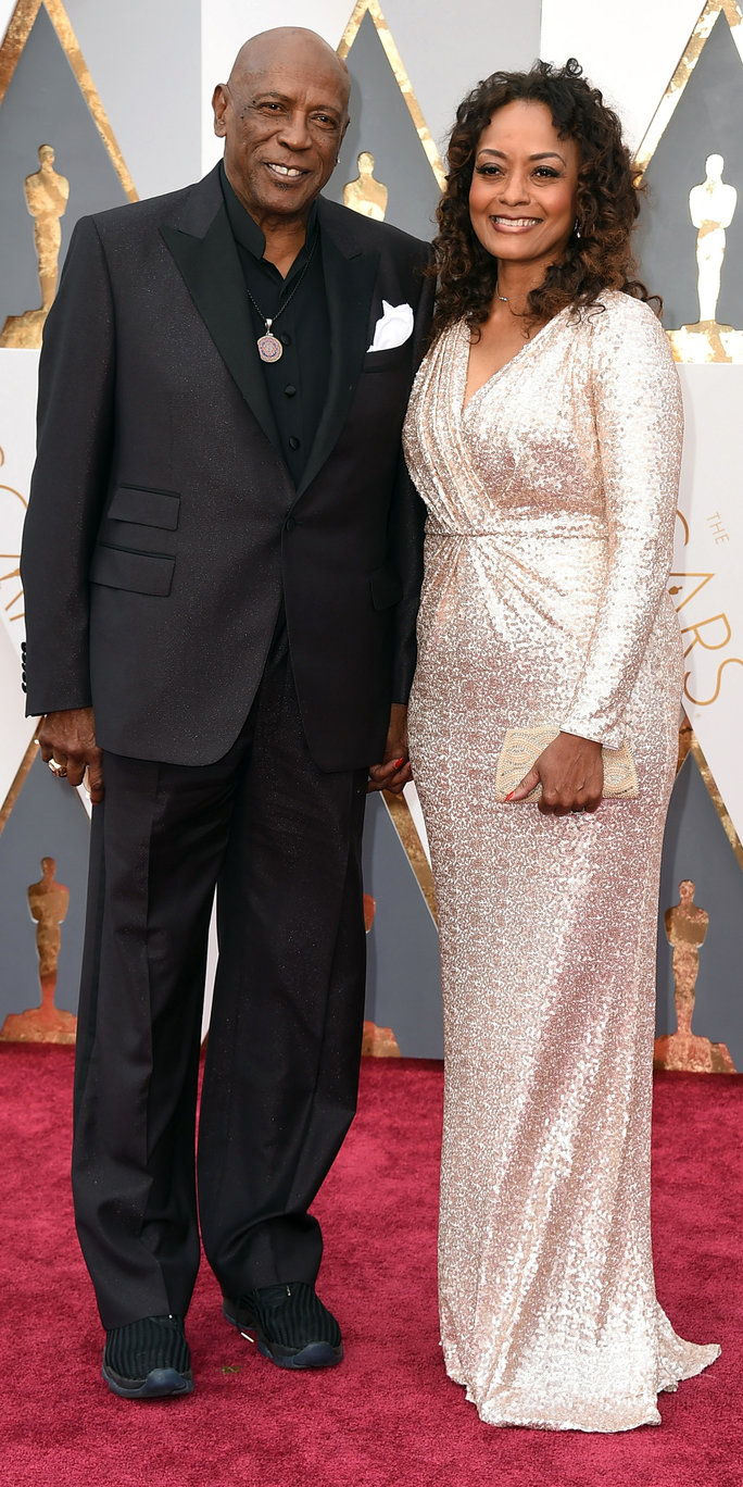 Louis Gossett Jr. and Candy Brown - Oscars 2016