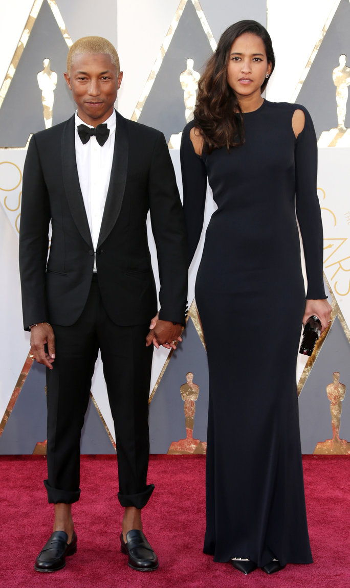Pharrell Williams and Helen Lasichanh - Oscars 2016