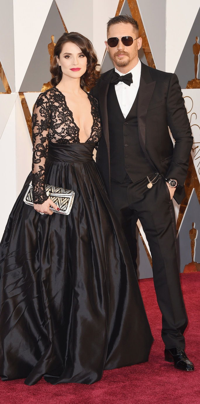 Tomáš Hardy and wife Charlotte Riley - Oscars 2016