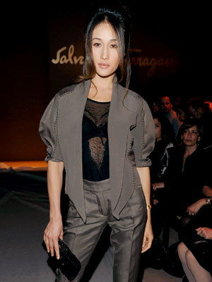 Milano Fashion Week - Maggie Q - Salvatore Ferragamo Show