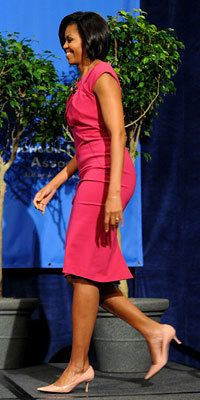 Michelle Obama Style Diary - Michelle Obama in Hot Pink