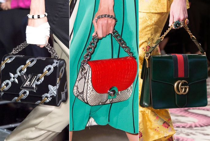 Borsa Guide - Chain handbags - runway
