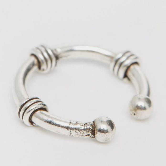 Kingsley Ryan Sterling Silver Twist Wire Faux Septum Nose Ring