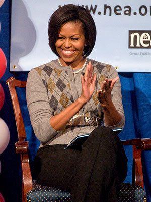 Michelle Obama Style Diary - Michelle Obama in Moschino