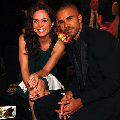 Elisa Dushku in Rami Kashou, Shemar Moore, 2008 Academy Awards, In Style Oscar Viewing Party