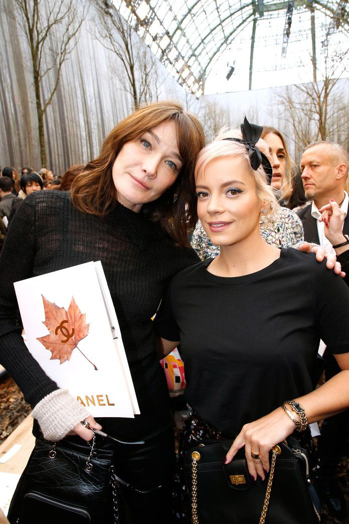 Carla Bruni and Lily Allen