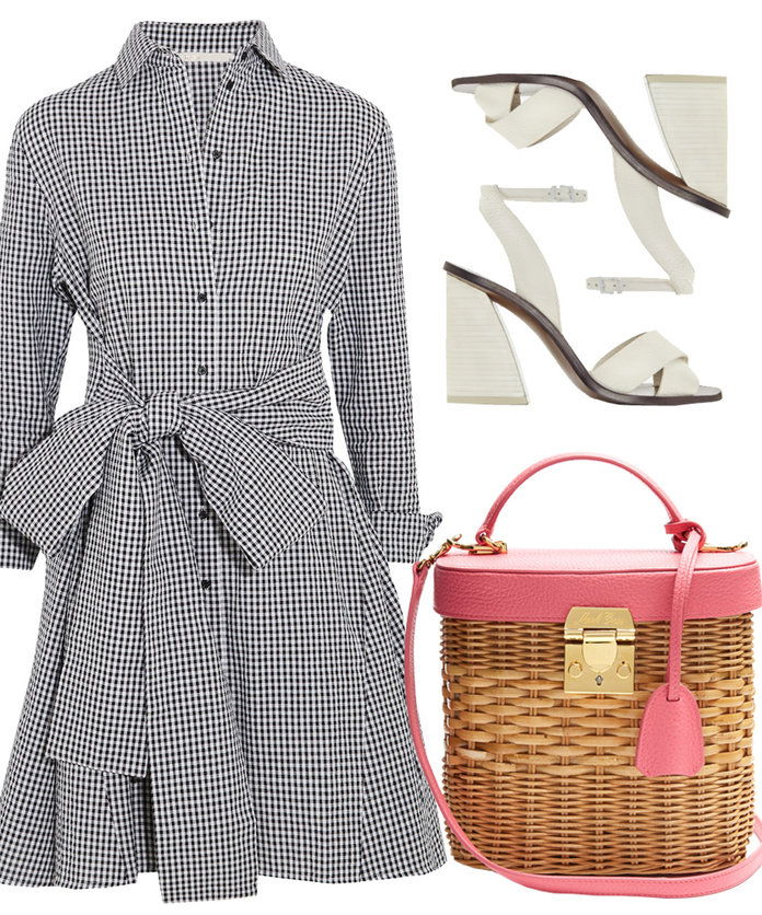 The gingham dress is an easy go-to for a pulled together look.