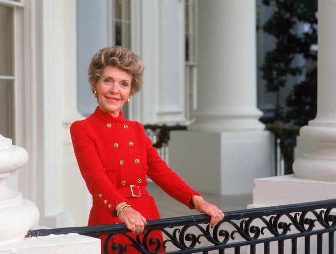 Nancy Reagan Red Dresses New Lead