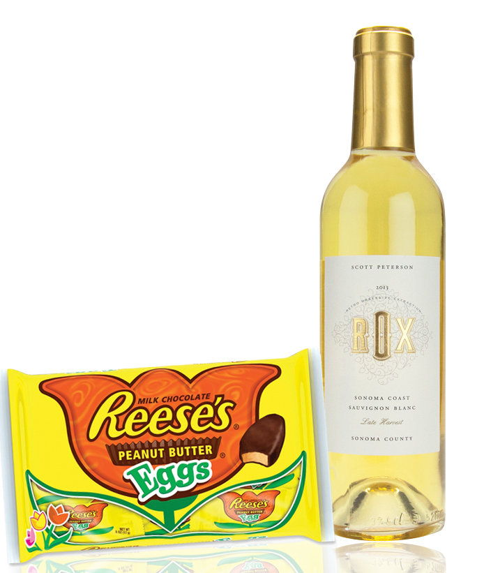 Reese's Peanut Butter Eggs with a Sherry-Style Wine